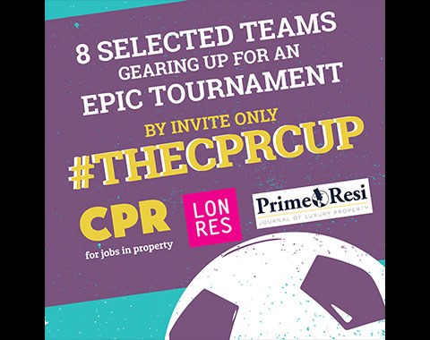 LonRes CPR Cup event partner - London subscribers - estate agent football tournament