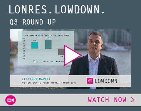 Watch now: LonRes Lowdown - Q3 analysis on London's residential sales and lettings markets